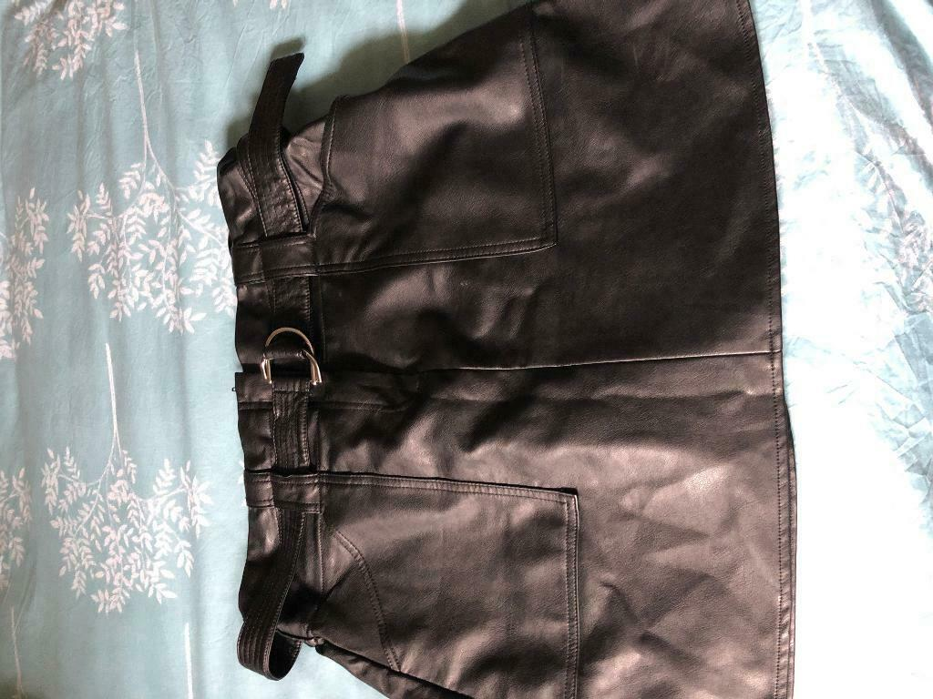 69c5f2e172 Ladies River Island Leather skirt size 16