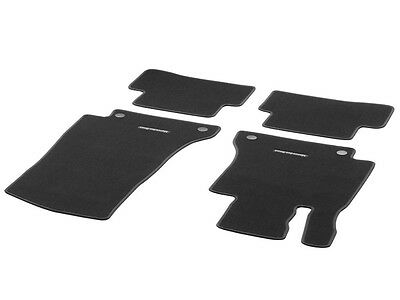 Genuine OEM Mercedes Benz C Class W205 Black Carpet Floor Mats