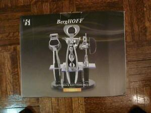 BergHOFF 1107769 Orion 6-Piece Kitchen and Bar Set Silver