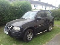 2000 BLACK, SUZUKI GRAND VITARA 2.0 Engine, 3 Door Manual, Unleaded, 75,000 Miles. MOT till AUG 2018