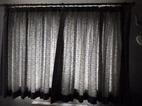 Silver and Grey curtains 100 x 54