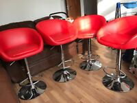 4 chairs bar brown new