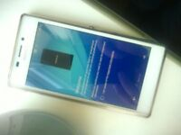 Sony Experia M2 with screen protector and tpu