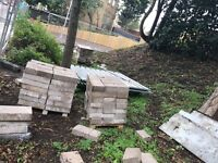 Approximately 250 concrete blocks - free for collection