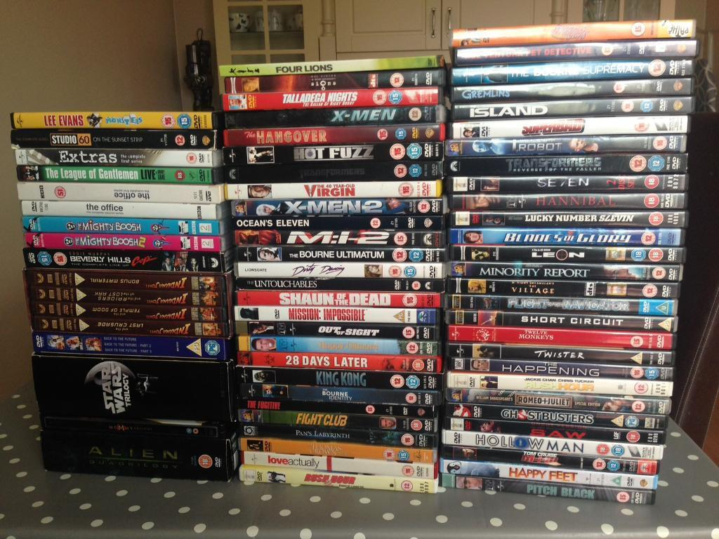 Bulk Dvd Sale 74 Titles And 8 Tv Show Stand Up In Glen Parva Short Circuit Robot For
