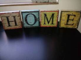 Wooden HOME blocks