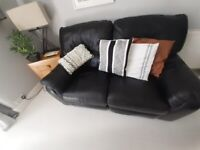 Leather 3 and 2 sofas