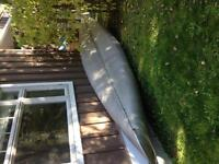 17 ft solid aluminum canoe