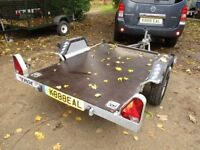 2010 GALVANISED 7X4 FLATBED GOODS TRAILER 450KG UNBRAKED..........