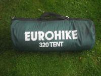 EUROHIKE 320 TENT FOR SALE
