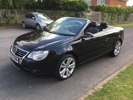 2007/57 Vw Eos 2.0 Tdi Sport - heated leather, FSH, panoramic sunroof, parking sensors