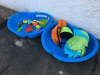 Sand/water playpit bundle