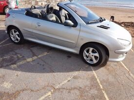 SOLD Peugeot 206cc convertible 1.6 16v Allure 2dr 2005, 51000 MILES ONLY! Silver, manual. MOT March.