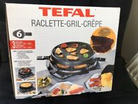 TEFAL Pancake & Raclette Grill BRAND NEW