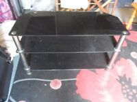glass television stand up to 52 inch