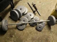 dumbbells to sell as good as new
