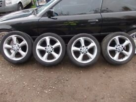 BMW 1 series set of 4 alloy wheels R17 & Tires 2009