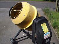 550W Electric Concrete Cement Mixer, Mortar Plaster Machine 120L Drum