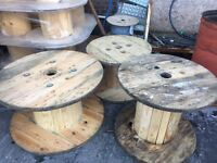 Cable drums for up cycle various sizes from 800mm to 1600mm can deliver locally for extra charge