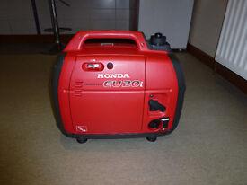 Genuine Honda EU20i Portable Generator, perfect condition