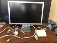 """Apple Cinema Display Widescreen LED Monitor 21.5"""" A1081 With PSU's & Cables Complete"""