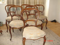 Set of six chairs........Six balloon back victorian dining chairs