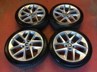 18'' GENUINE SEAT LEON FR ALLOY WHEELS TYRES ALLOYS VW GTI GTD MK5 MK7 CADDY PASSAT JETTA 5x112