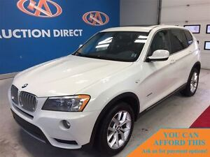 2013 BMW X3 AWD! HUGE SUNROOF! LEATHER! FINANCE NOW!