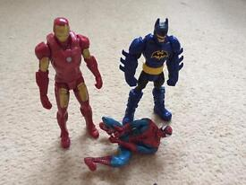 Marvel and DC figures
