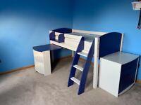 Scallywag Mid-sleeper cabin bed