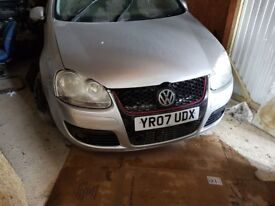 Volkswagen Golf Silver and Blue Breaking and selling for parts