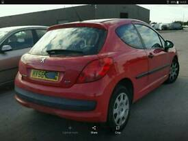 2007 PEUGEOT 207 HDI RED TAILGATE **POSTAGE AVAILABLE**