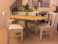 Pine Drop Leaf Table & 4 Chairs