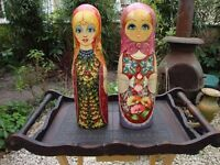 Pair Of Russian Doll Wine/Spirit Bottle Covers.