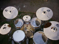 Premier XPK 5 piece Drum Kit with cymbals.
