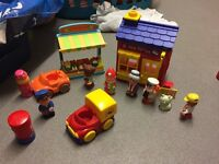 Happyland post office and fruit and veg stall
