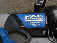 Macalister MBV3000 lead blower & vac