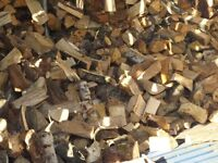 logs firewood mixed 50% hardwood 50% softwood seasoned kiln dried free local delivery