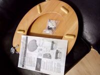 Collection Solid Wood Slow Close Toilet Seat - Natural Pine