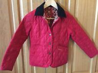 Barbour kids 8/9 quilted jacket - classic style for cute kids