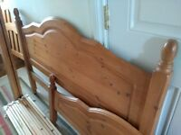 Solid Pine Wooden Double Bed Frame