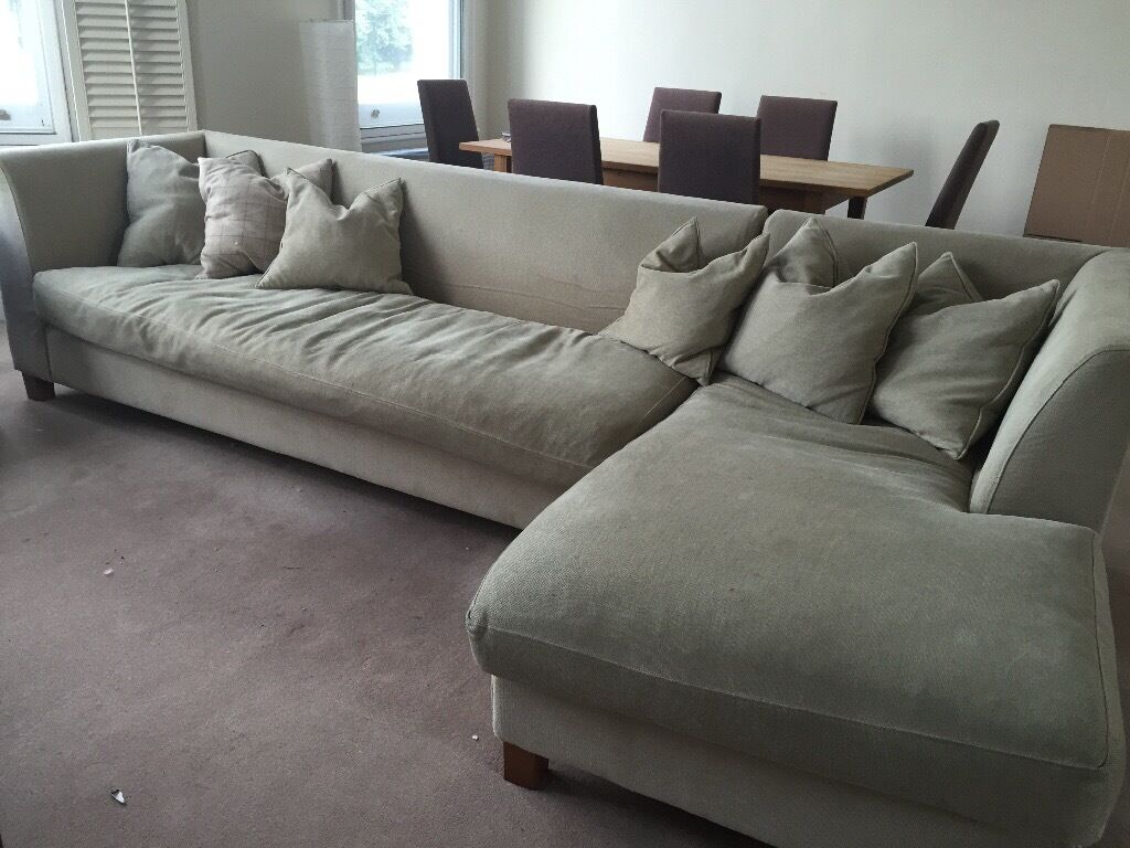 large l shaped sofa in battersea london gumtree. Black Bedroom Furniture Sets. Home Design Ideas