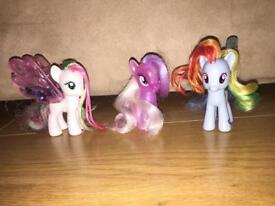 My Little Pony Set of 3 Ponies (Larger Version)