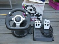 LOGIC 3 USB STEERING WHEEL & PEDALS FOR PC