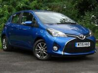 TOYOTA YARIS 1.3 VVT-I ICON 5d LOW MILAGE FAMILY HATCHBACK (blue) 2015