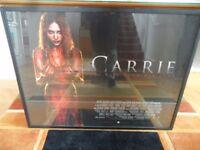 Carrie Film Movie Poster 3D Original Framed Glazed