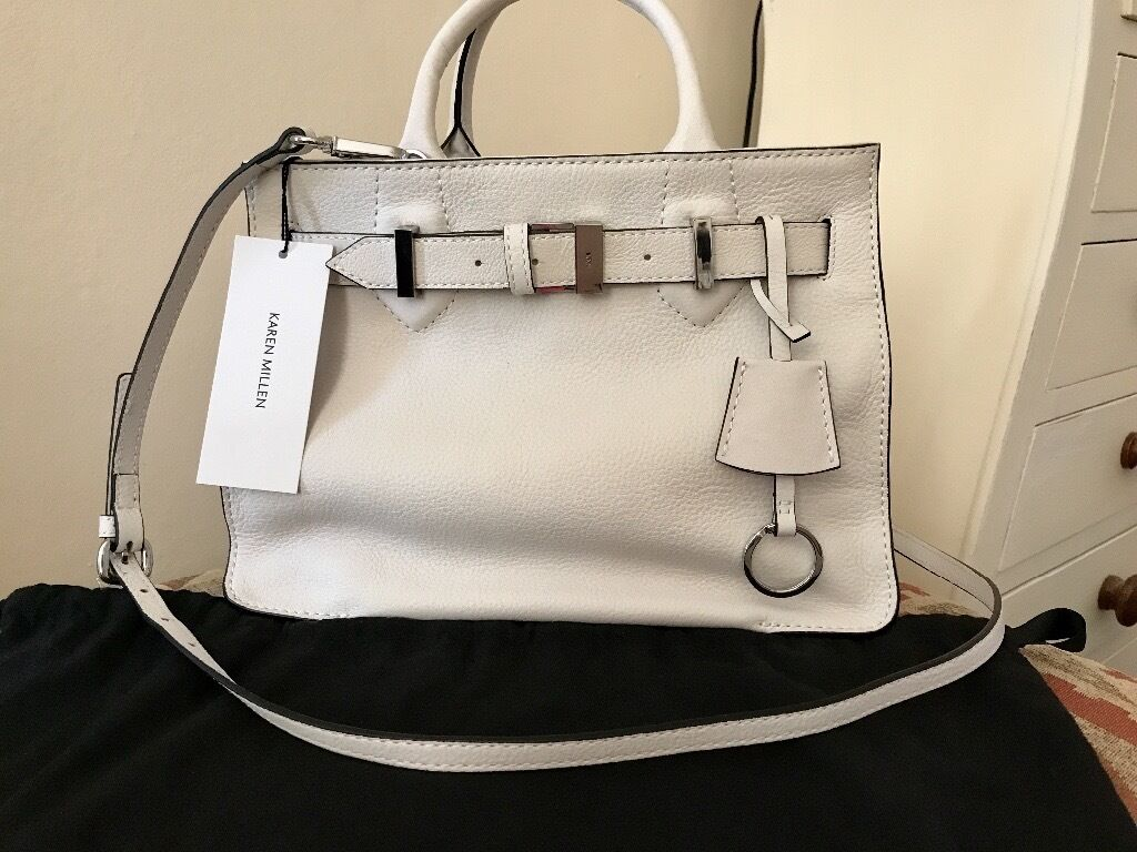0c5576768e95 Karen Millen White Leather Grab Bag Never Used   in Great Yarmouth ...