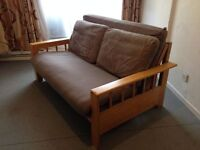 Futon Company 2 Seat Sofa Bed Vienna Birch Base+Sofabed Mattress+Cover Cost £950 New(Can Deliver)