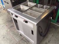 HOT FOOD CUPBOARD COMMERCIAL BAIN MARIE SHOP KITCHEN CUISINE BUFFET SAUCES RESTAURANT SALAD CATERING