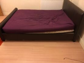 Queens size leather bed